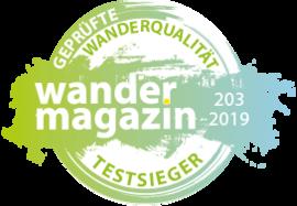 """wandermagazin """"Testsieger"""""""