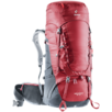 Mochila de trekking Aircontact 45+10 Rojo Gris