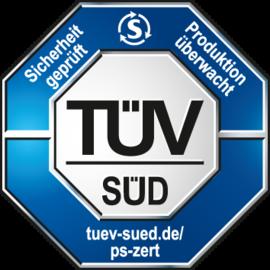 TÜV/GS certified