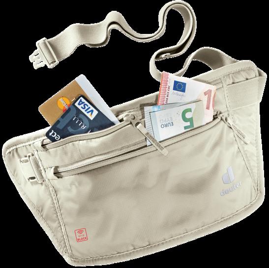 Accessori da viaggio Security Money Belt l RFID BLOCK